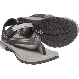 Keen Terradora II Toe Post Sandals Women, dark grey/dawn pink